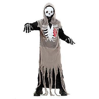 Skelett Zombie kostym