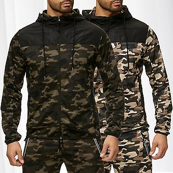 Men's Hooded Jacket Zip Hoodie track jacket sweat jacket camouflage windbreaker