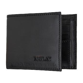 Sac à main pièce sac à main pochette en cuir noir du REPLAY 5081