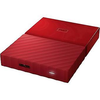 2.5 external hard drive 1 TB Western Digital My Passport™ rojo USB 3.0