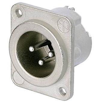 XLR connector Sleeve plug, straight pins Number of pins: 3 Silver Neutrik NC3MD-LX-M3 1 pc(s)