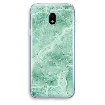 Samsung Galaxy J3 (2017) Transparent Case (Soft) - Green marble