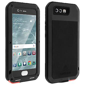 Love Mei powerful hybrid shockproof case for Huawei P10 Plus - Black