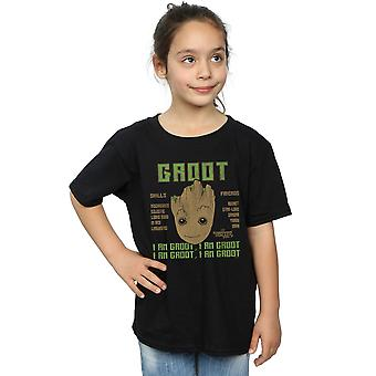 Marvel Girls Guardians Of The Galaxy Vol. 2 Groot Skills T-Shirt