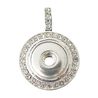 Silver plated pendant for mini click buttons