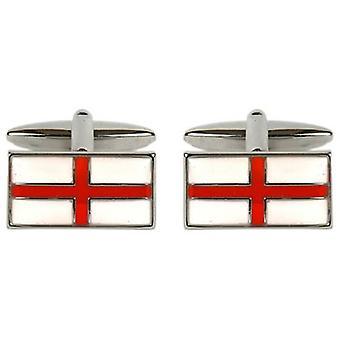 David Van Hagen St Georges Cross Cufflinks - Red/White