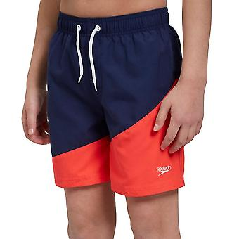 "Speedo Colour Block Printed 15"" Junior Swim Shorts"