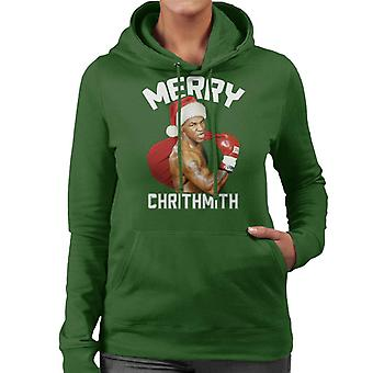 Christmas Mike Tyson Merry Chrithmith Women's Hooded Sweatshirt