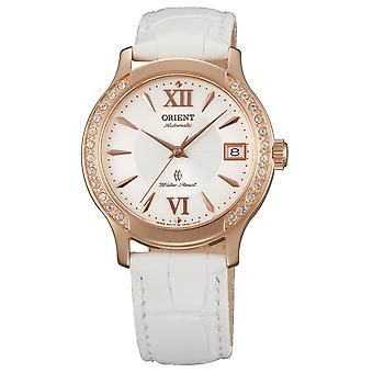 Orient ladies watch with genuine leather strap Rosé Gold