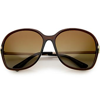 Damskie okulary polaryzacyjne Oversize metalowe ramiona Neutral kolorowe soczewki 60mm