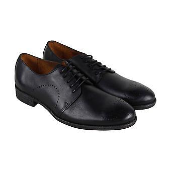Robert Wayne Tf Utah Mens Black cuir robe Casual Lace Up chaussures lacets
