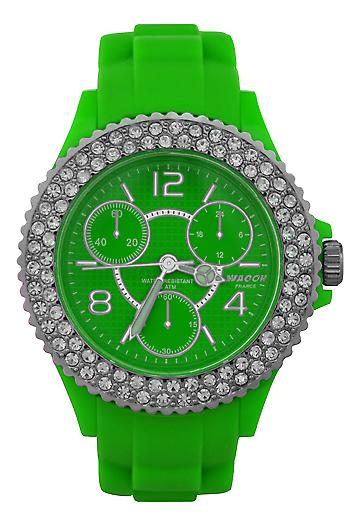 Waooh - CANNES Watch with Rhinestone Silicone Bracelet