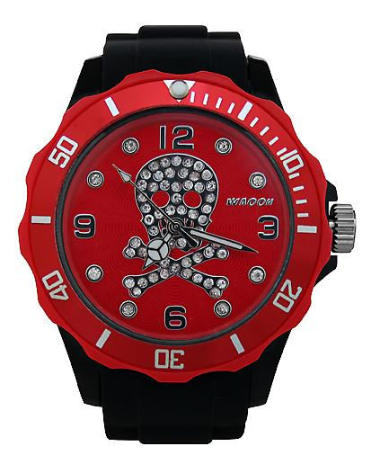 Waooh - Watch Skull Rhinestone Black Dial & Bezel 39 Color