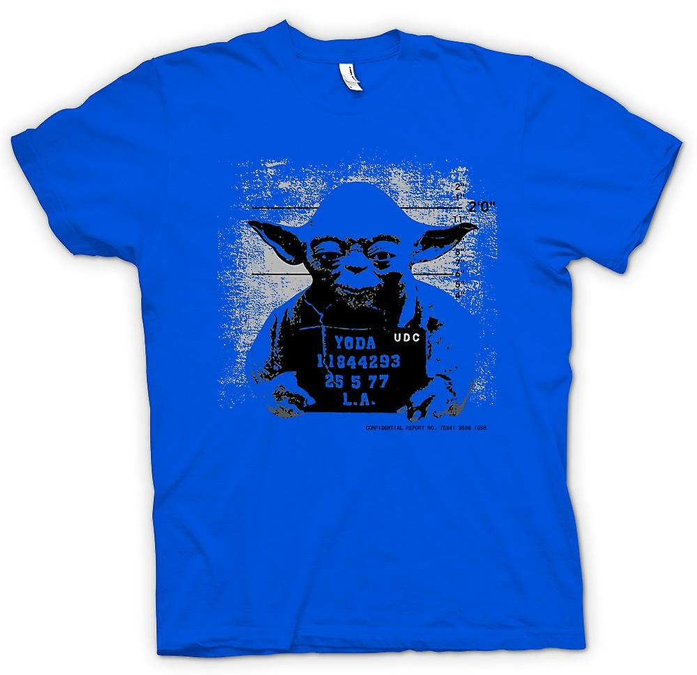 Mens T-shirt - Yoda Mug Shot - Star Wars - Funny