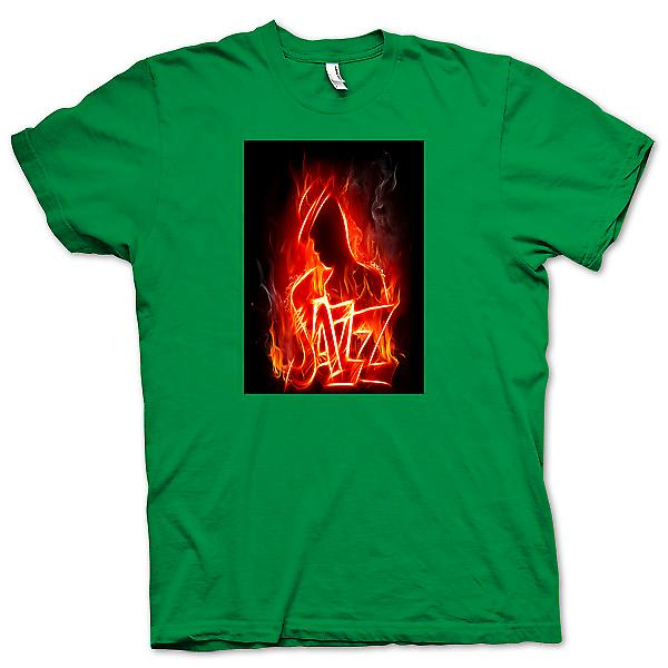 Herr T-shirt-Neon Jazz Design