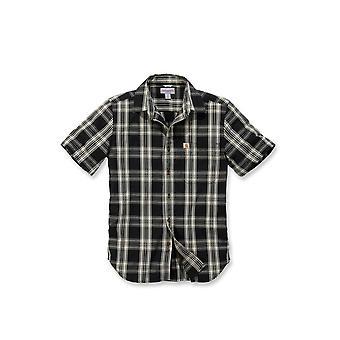 Carhartt men's short-sleeved shirt short sleeve essential open collar Plaid