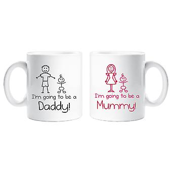 I'm Going to be a Mummy Daddy Mug Set