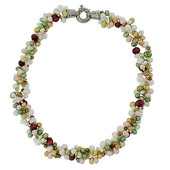 Toc Triple Row Symmetrical & Baroque Freshwater Cultured Pearl 20