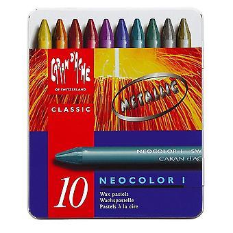 Caran d ' Ache Neocolor ich Kreide sortiert Metallic-Farben