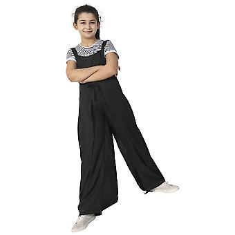 Wide Leg Jumpsuit for Girls - Black Sleeveless Culotte Dress Age 3-12