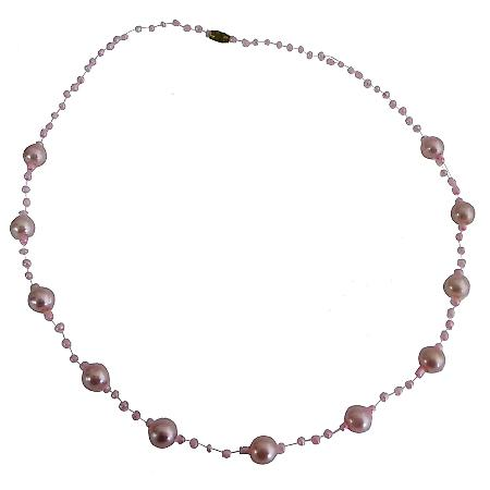 Girls Pink Fancy Necklace for Birthday Return Gift Prom