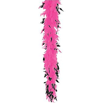 Boa Feather 40 Hot Pk Blk Tip