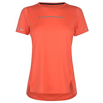 Asics Womens Lite Show Short Sleeve Top Performance Shirt Round Neck Breathable