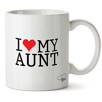 Hippowarehouse ich liebe es meine Tante gedruckt Mug Tasse Keramik 10oz