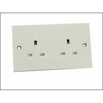 2 GANG 13AMP UNSWITCHED SOCKET
