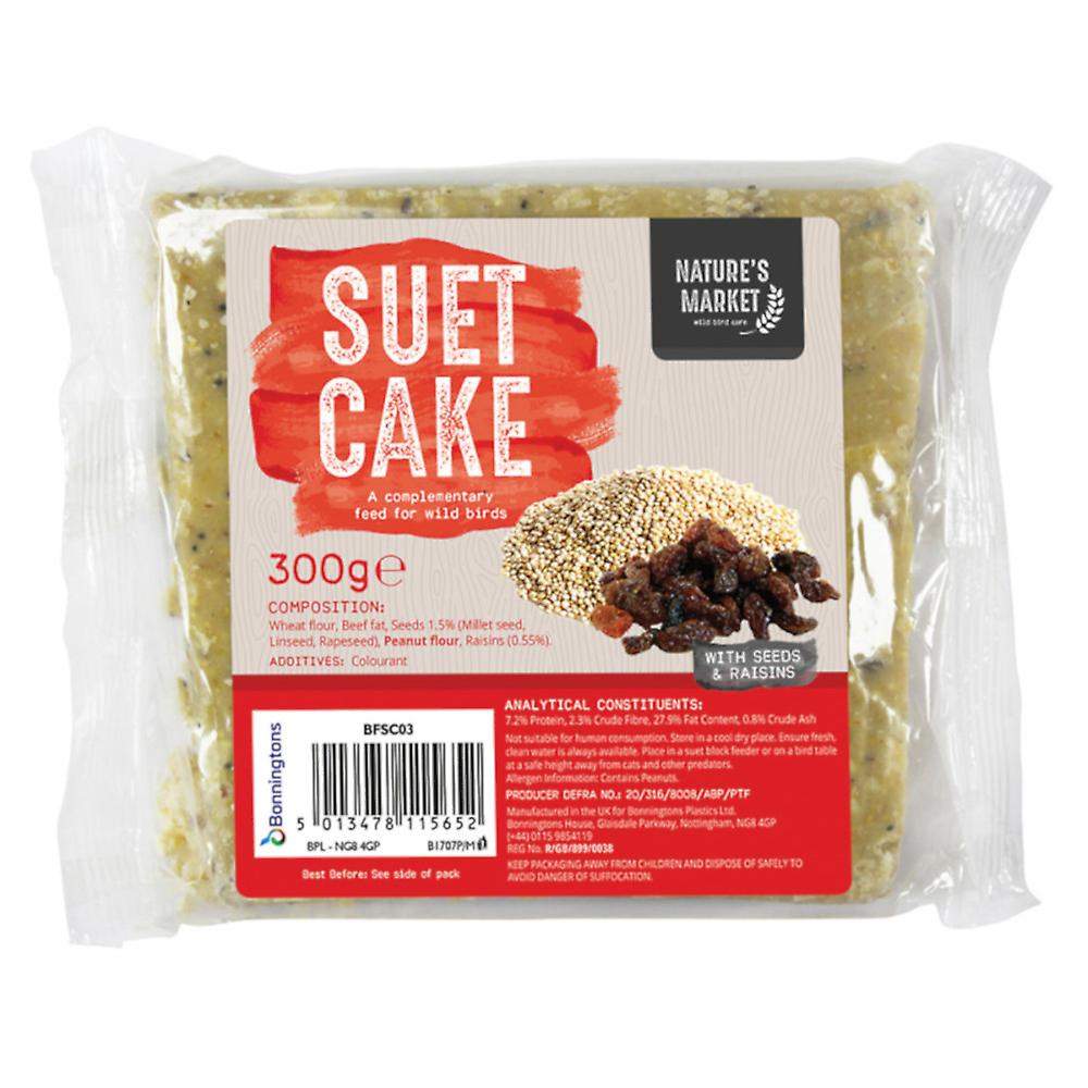 Natures Market Wild Bird Feed Suet Cake - Wild Fruit Flavour Food