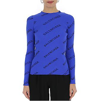 Balenciaga Blue Wool Sweater