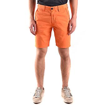 Stone Island Orange Cotton Shorts