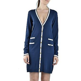 Blumarine Blue Cotton Dress