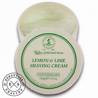 Taylor of Old Bond Street Lemon and Lime Shaving Cream (150g)