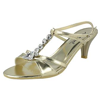 Ladies Anne Michelle Jewelled Detail Heeled Sandals