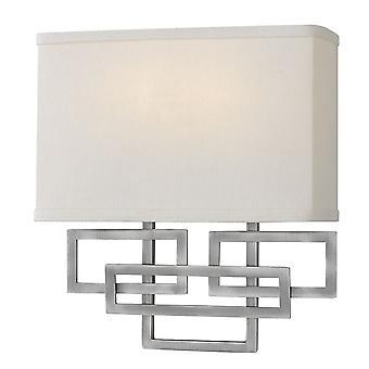 Elstead-2 luce parete-nichel antico-HK/LANZA2 AN