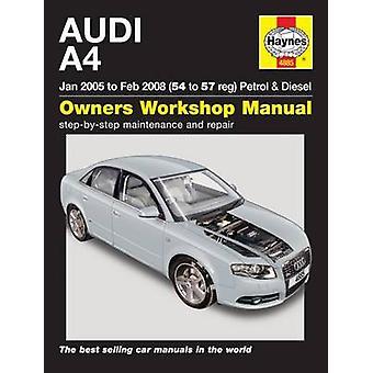 Audi A4 Service and Repair Manual - 05-08 - 9780857339959 Book