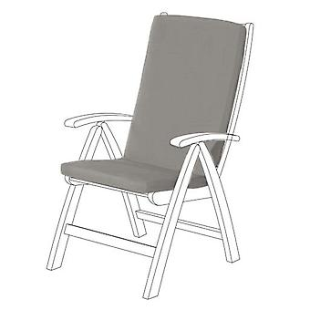 Gardenista® Grey Water Resistant Highback Seat Pad for Garden Chair, Pack of 4