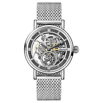 Ingersoll The Herald Automatic Skeleton Dial Milanese Steel Bracelet Ladies Watch I00405 40mm