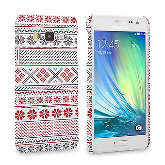 Caseflex Samsung Galaxy A3 Fairisle Case – Red, White and Grey