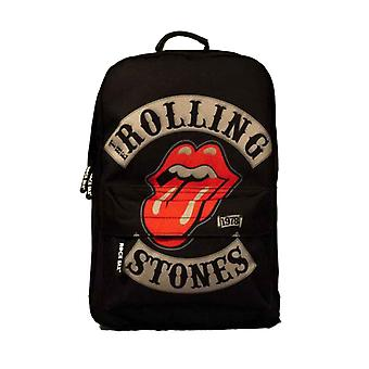 The Rolling Stones Backpack Rucksack Bag 1978 Tour Band Logo new Official Black