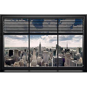 Affisch-Studio B-New York-Windows blind 36x24