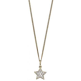 Elements Gold Star Diamond Pendant - Gold/Silver