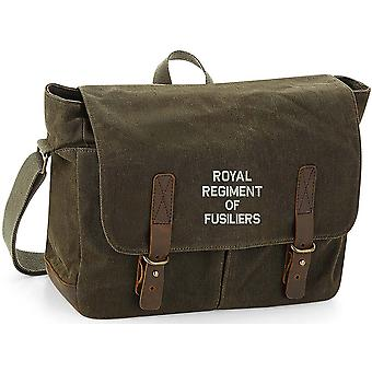 Royal Regiment Of Fusiliers Text - Licensed British Army Embroidered Waxed Canvas Messenger Bag Royal Regiment Of Fusiliers Text - Licensed British Army Embroidered Waxed Canvas Messenger Bag Royal Regiment Of Fusiliers Text - Licensed British Army Embroidered Waxed Canvas Messenger Bag Royal Regiment