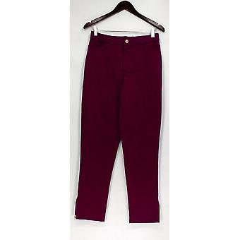 Isaac Mizrahi en direct! Pantalon 4T Tall Brushed Sateen Ankle Pantalon Purple A293947