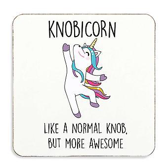 Knobicorn Knob Unicorn Coaster Cork Back