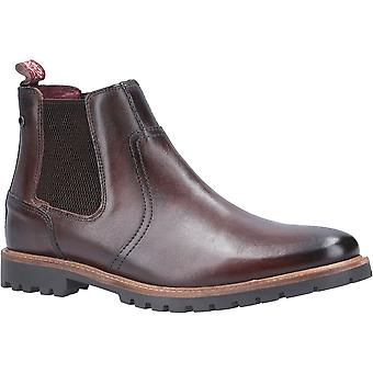 Base London Mens Wilkes Washed Leather Pull On Chelsea Boots