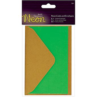 Papermania Neon Cards W/Envelopes 3/Pkg-Green PM151854