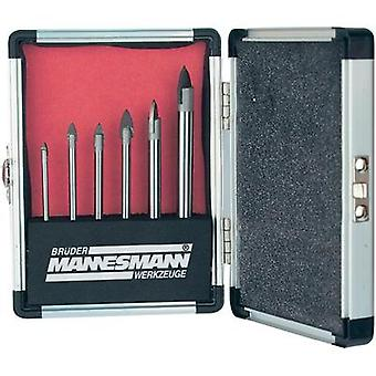 Tile and glass drill bit set 6-piece Brüder Mannesmann 54806 Cylinder shank 1 Set