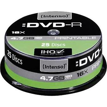 Blank DVD-R 4.7 GB Intenso 4801154 25 pc(s) Spindle Printable
